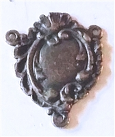 Edwardian White Bronze Rosary Center 7/8""