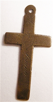 WHITE BRONZE Simple Nuns Cross 2""