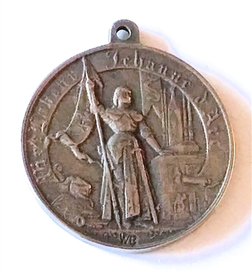 French Joan of Arc White Bronze Medal 1 1/2""