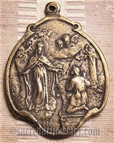 Our Lady of Mercy White Bronze Medal 1 1/2""