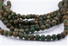 10mm Natural Agate Tibetan Style Dzi Round Beads - Aquas / Creams / Browns / Picasso Harlequin