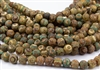 12mm Natural Agate Tibetan Style Dzi Round Beads - Crackle Aquas / Creams / Browns / Picasso Eyes