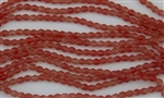 4mm Firepolish Czech Glass Beads - HurriCane Valley Of Fire Matte