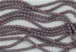4mm Firepolish Czech Glass Beads - Opaque Antique Purple
