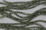 4mm Firepolish Czech Glass Beads - Prairie Green Celsian