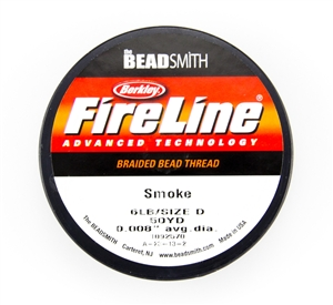 6LB Test - Size D Berkley Fireline Thread 50 Yard Spool - Smoke