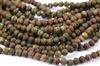 8mm Natural Agate Tibetan Style Dzi Round Beads - Aquas / Creams / Browns / Picasso Stripes