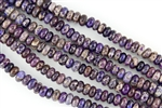 10x6mm Aqua Terra Jasper Gemstone Rondelle Beads - Dark Purple