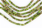 6x4mm Aqua Terra Jasper Gemstone Rondelle Beads - Green