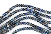 8x5mm Aqua Terra Jasper Gemstone Rondelle Beads - Dark Blue