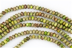 8x5mm Aqua Terra Jasper Gemstone Rondelle Beads - Yellow / Green