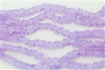 7mm Czech Button Style Flower Beads - Milky Lavender