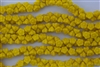 7mm Czech Button Style Flower Beads - Opaque Sunflower Yellow