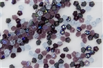 7mm Czech Button Style Flower Beads - Purple Lilac Mix #BF78