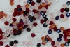 7mm Czech Button Style Flower Beads - Valentines Mix #BF100