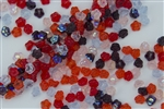 7mm Czech Button Style Flower Beads - Melonberry Mix #BF117