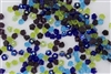 7mm Czech Button Style Flower Beads - Gemstones Mix #BF140