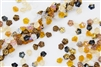 7mm Czech Button Style Flower Beads - Honey Butter Mix #BF176