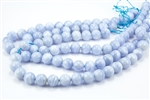 12mm Natural Chalcedony Blue Lace Agate Round Beads