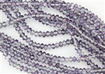 5x3mm Czech Glass Beads Faceted Rondelles - Crystal Purple Heliotrope