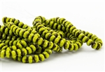 5x3mm Czech Glass Beads Faceted Rondelles - Opaque Avocado Picasso