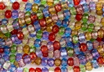6x4mm Czech Glass Beads Faceted Rondelles - Transparent Gemstone Mix Copper