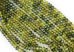 7x5mm Czech Glass Beads Faceted Rondelles - Olive Celsian Mix