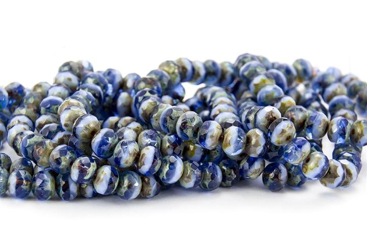 25 Faceted Alexandrite Rondelle Czech Glass Beads 9MM