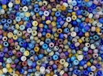 6/0 Czech Seed Beads - Limited Run - Transparent Matte Rainbow Mix