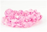 10mm Lentils Czech Glass Beads - Crystal Pink White