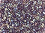 4mm Czech Glass O Beads - Amethyst AB