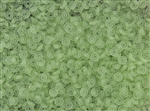 4mm Czech Glass O Beads - Peridot Matte
