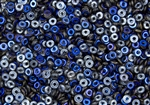 4mm Czech Glass O Beads - Crystal Azuro Iris Blue