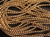 3mm Czech Glass Round Spacer Beads - 24K Gold Plated