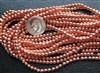 3mm Czech Glass Round Spacer Beads - Copper Penny