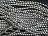 3mm Czech Glass Round Spacer Beads - Silver Metallic