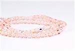 4mm Czech Glass Round Spacer Beads - Transparent Rosaline Pink AB