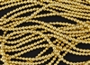 4mm Czech Glass Round Spacer Beads - 24K Gold Plated