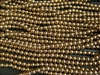 4mm Czech Glass Round Spacer Beads - Bronze Metallic