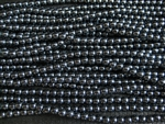 4mm Czech Glass Round Spacer Beads - Hematite