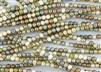 4mm Czech Glass Round Spacer Beads - Opaque Brown Luster Mix
