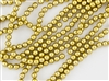 4mm Czech Glass Round Spacer Beads - Pearlized Gold