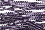 4mm Czech Glass Round Spacer Beads - Transparent Amethyst