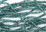 4mm Czech Glass Round Spacer Beads - Teal Celsian