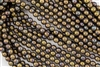 6mm Czech Glass Round Spacer Beads - Oxidized Bronze Clay