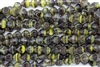 9mm Czech Shells - Dark Amethyst Yellow Stripes