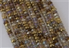 4x6mm Faceted Crystal Designer Glass Rondelle Beads - Amber Glow Mix