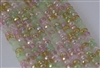 4x6mm Faceted Crystal Designer Glass Rondelle Beads - Sakura Cherry Blossom Mix