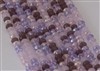 4x6mm Faceted Crystal Designer Glass Rondelle Beads - Dark Lilac Spring Mix
