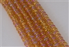 4x6mm Faceted Crystal Designer Glass Rondelle Beads - Hyacinth Orange AB